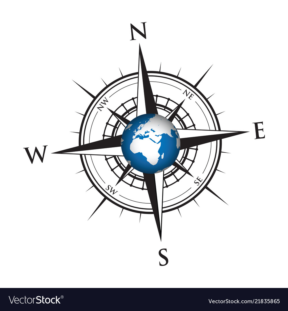 Globe on a compass