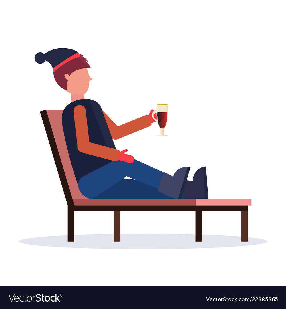 Brilliant Man Relaxing On Lounge Chair At Resort Guy Squirreltailoven Fun Painted Chair Ideas Images Squirreltailovenorg