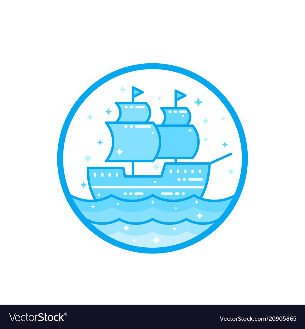 Sailing vessel old ship