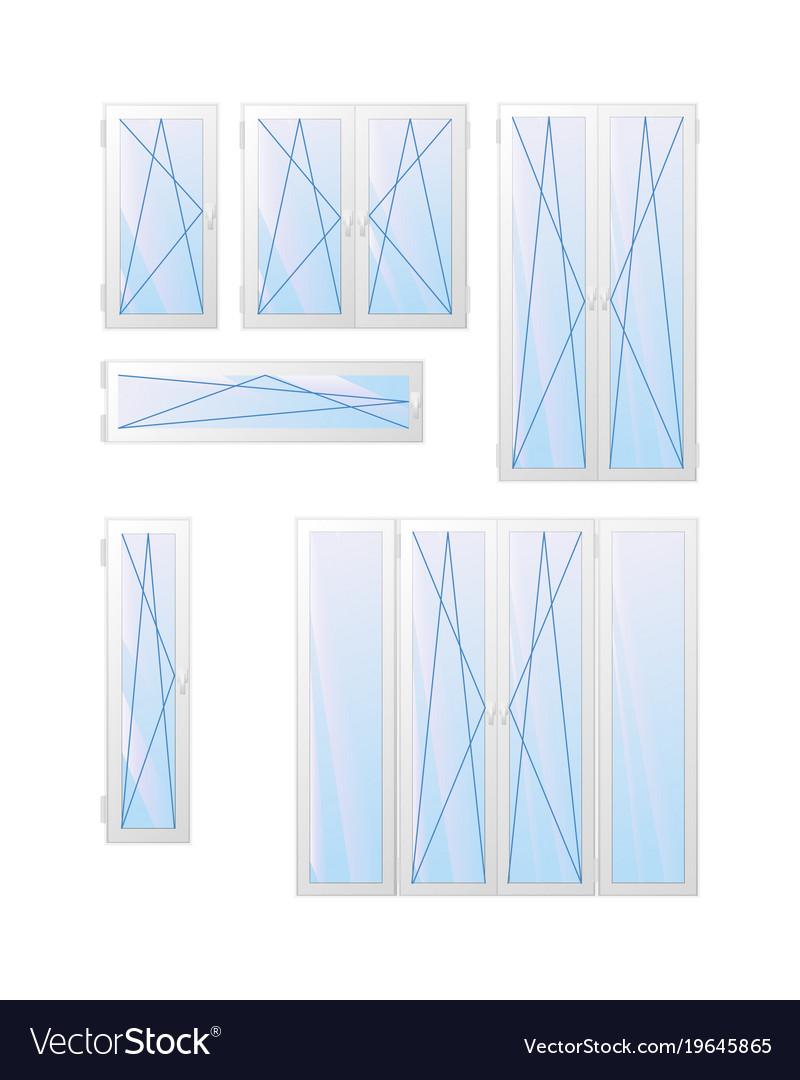 Window ans door types of opening vector image
