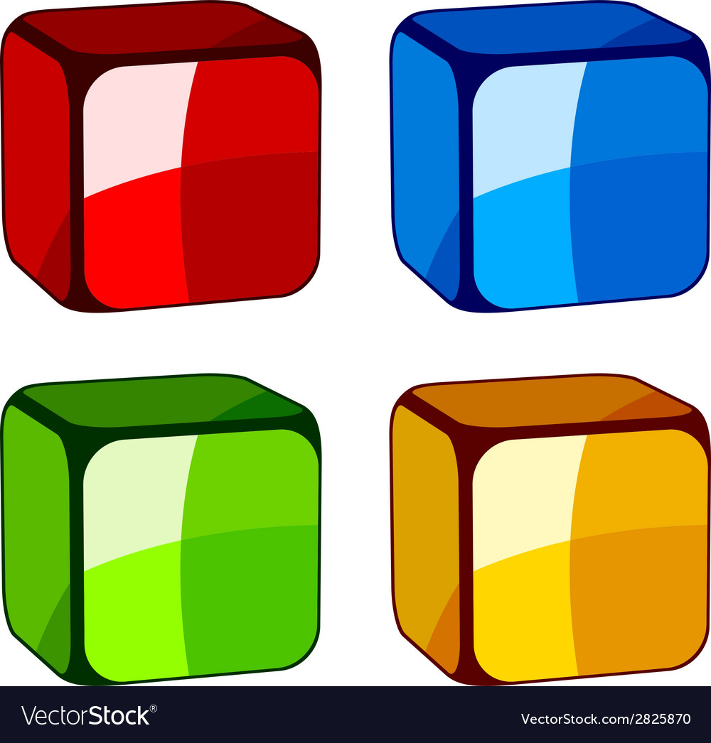 Abstract glass cubes vector image
