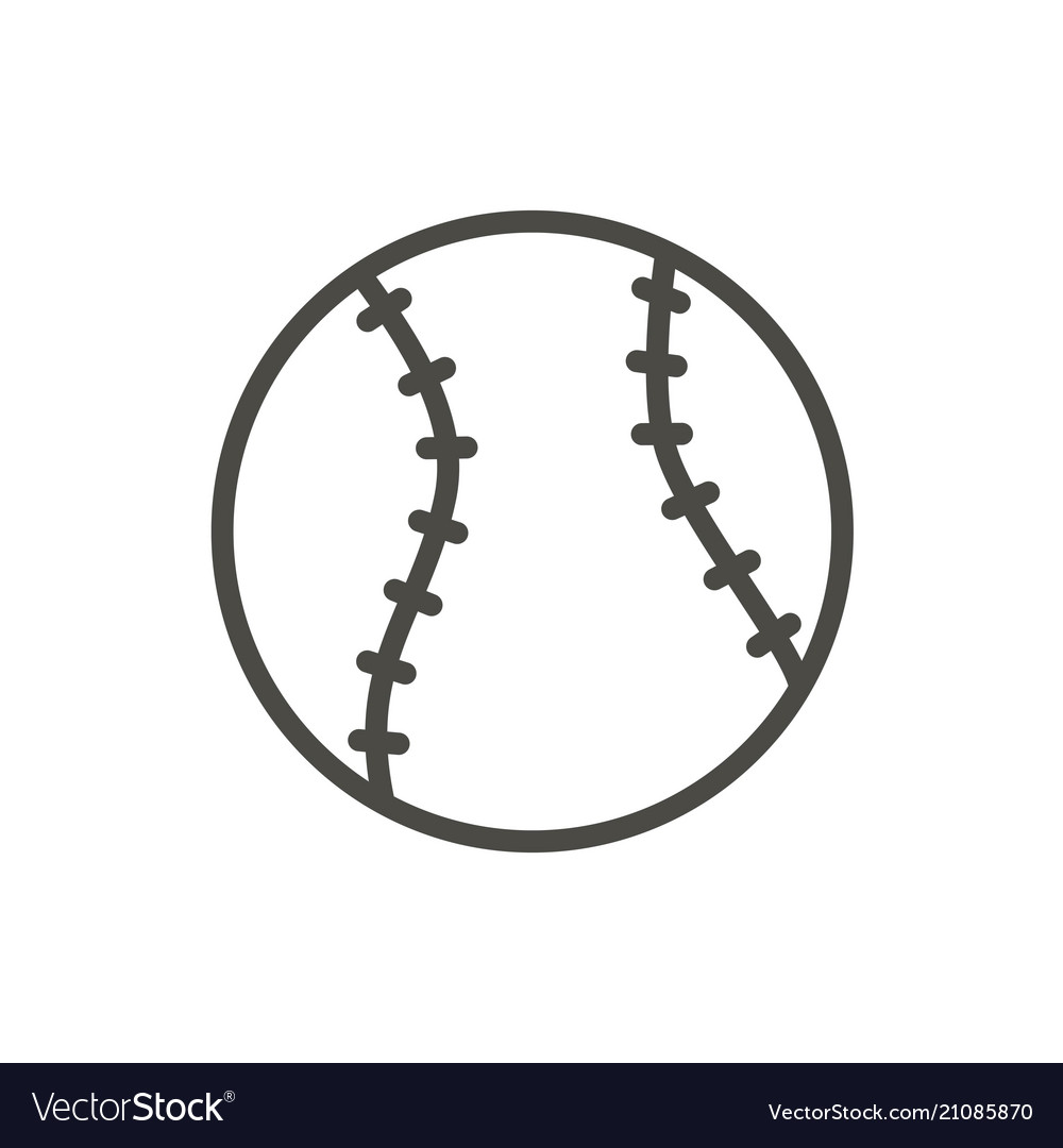 Baseball ball icon line baseball symbol