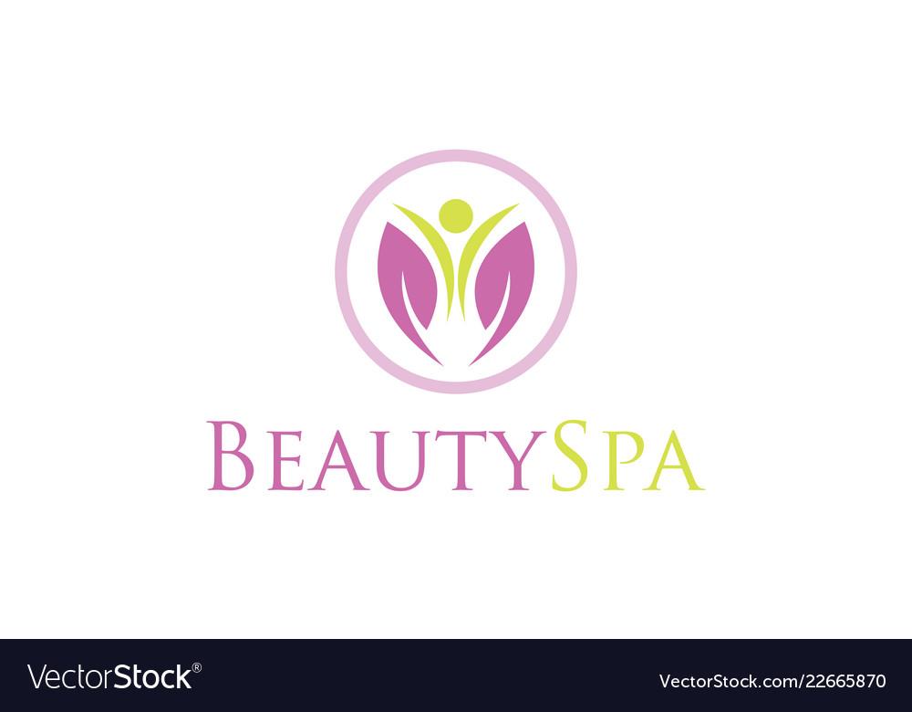 Flower Beauty Spa Logo Royalty Free Vector Image