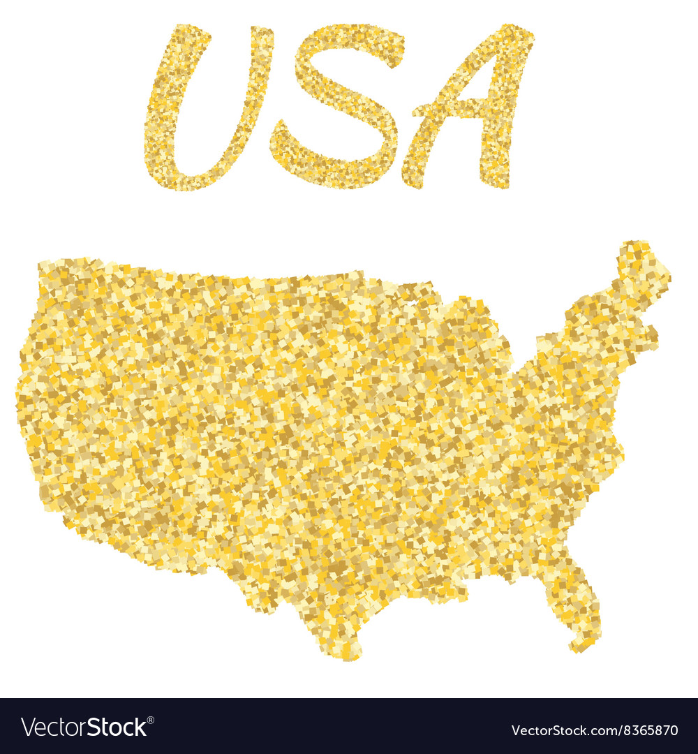 Map of USA in golden With gold yellow particles Gold In Usa Map on gold in vermont, gold in california, gold in puerto rico, gold in united states, gold in turkey, gold in pennsylvania, gold in north dakota, in the civil war states map, gold in indiana, copper mining in the united states, us mining map, gold mines in usa, virginia gold mining, gold mining in alaska, gold in arkansas, gold country, gold deposits in usa, landslide united state map, latin america map,