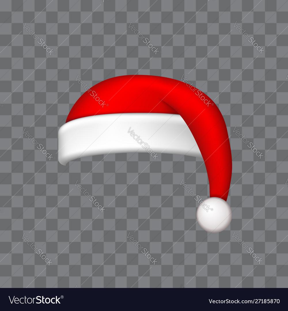 Santa claus hat 3d realistic santa claus hat