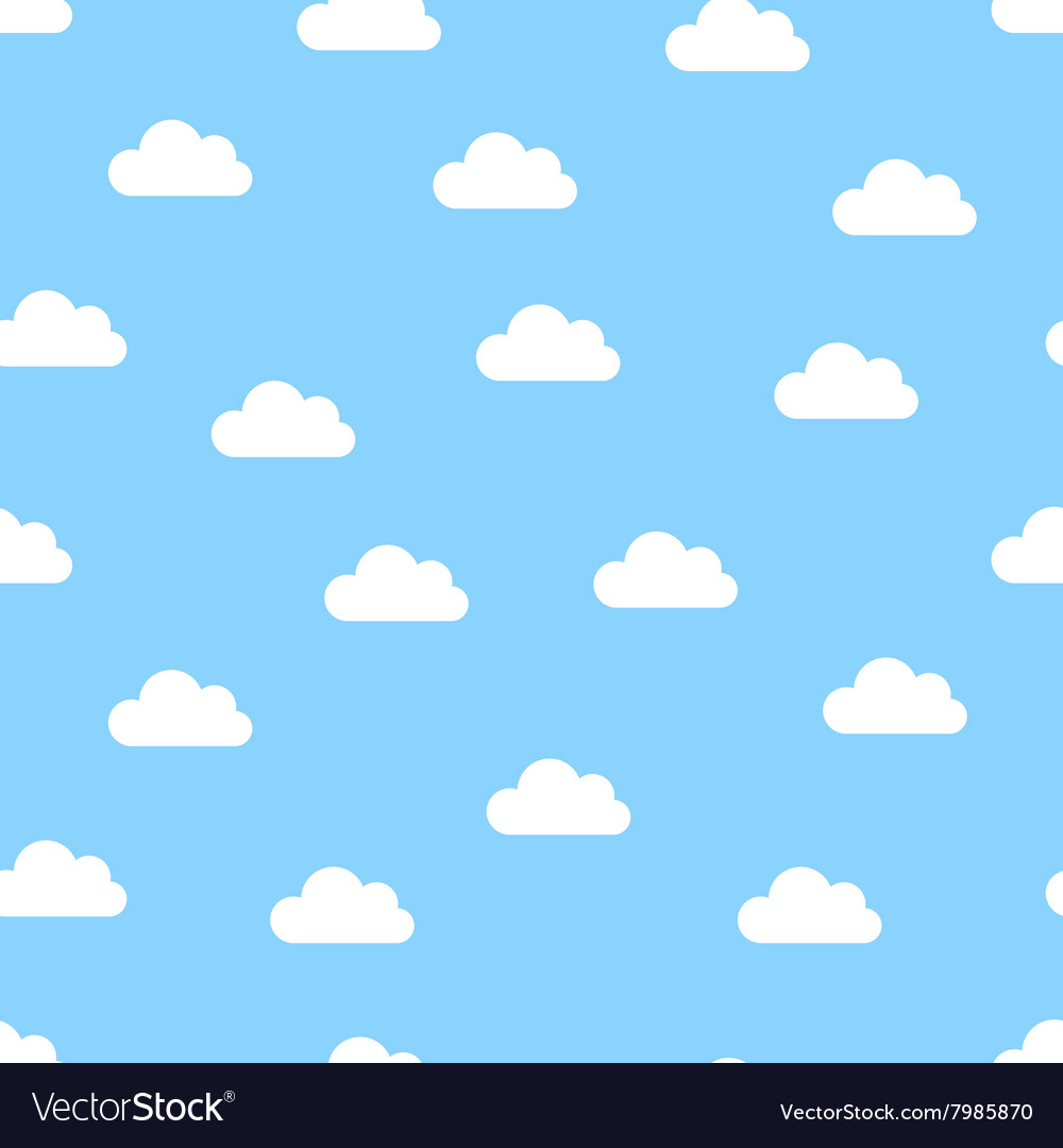 White clouds seamless