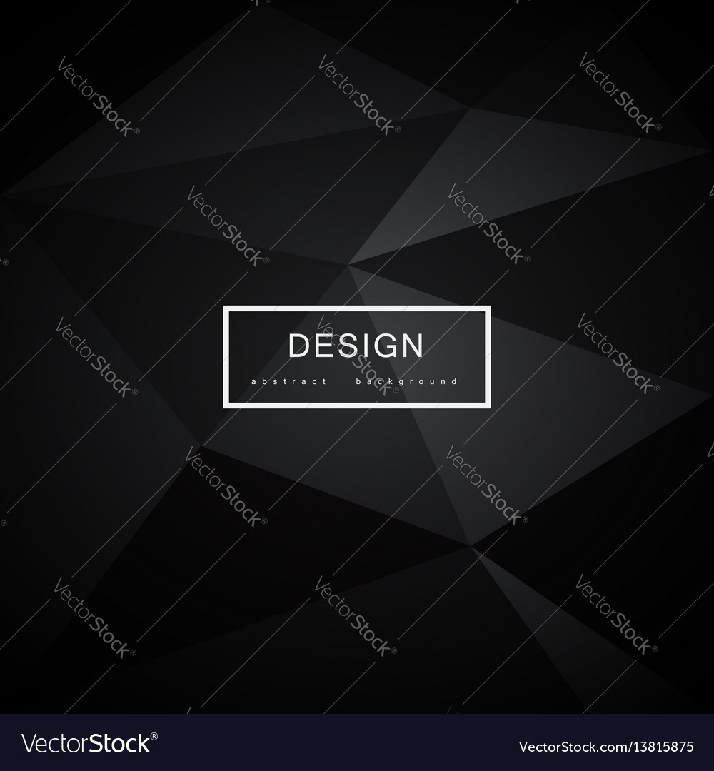Abstract black background with triangles