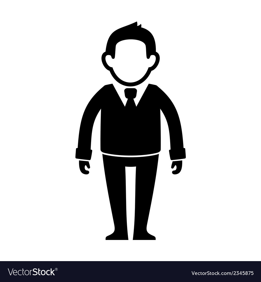 Businessman Black Silhouette Web Icon