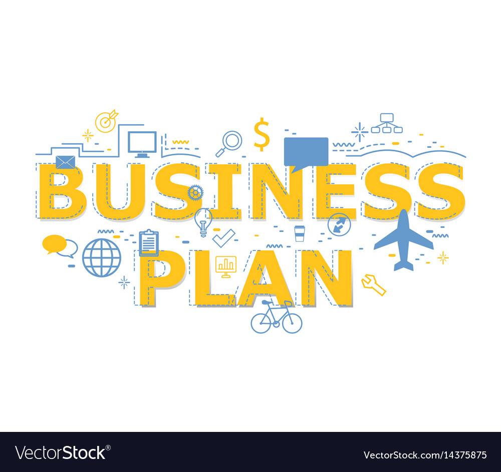 Creative of business plan word letter