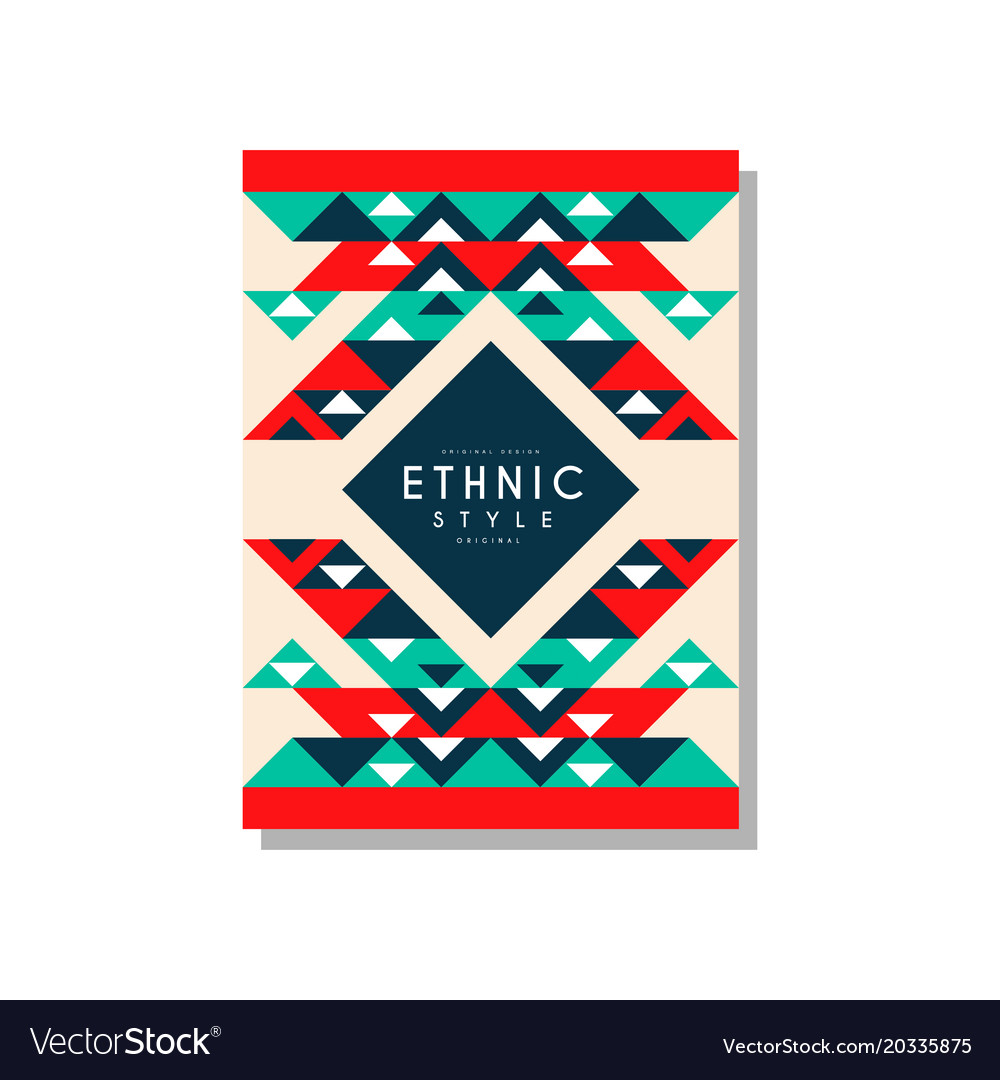 Ethnic style original ethno tribal geometric vector image