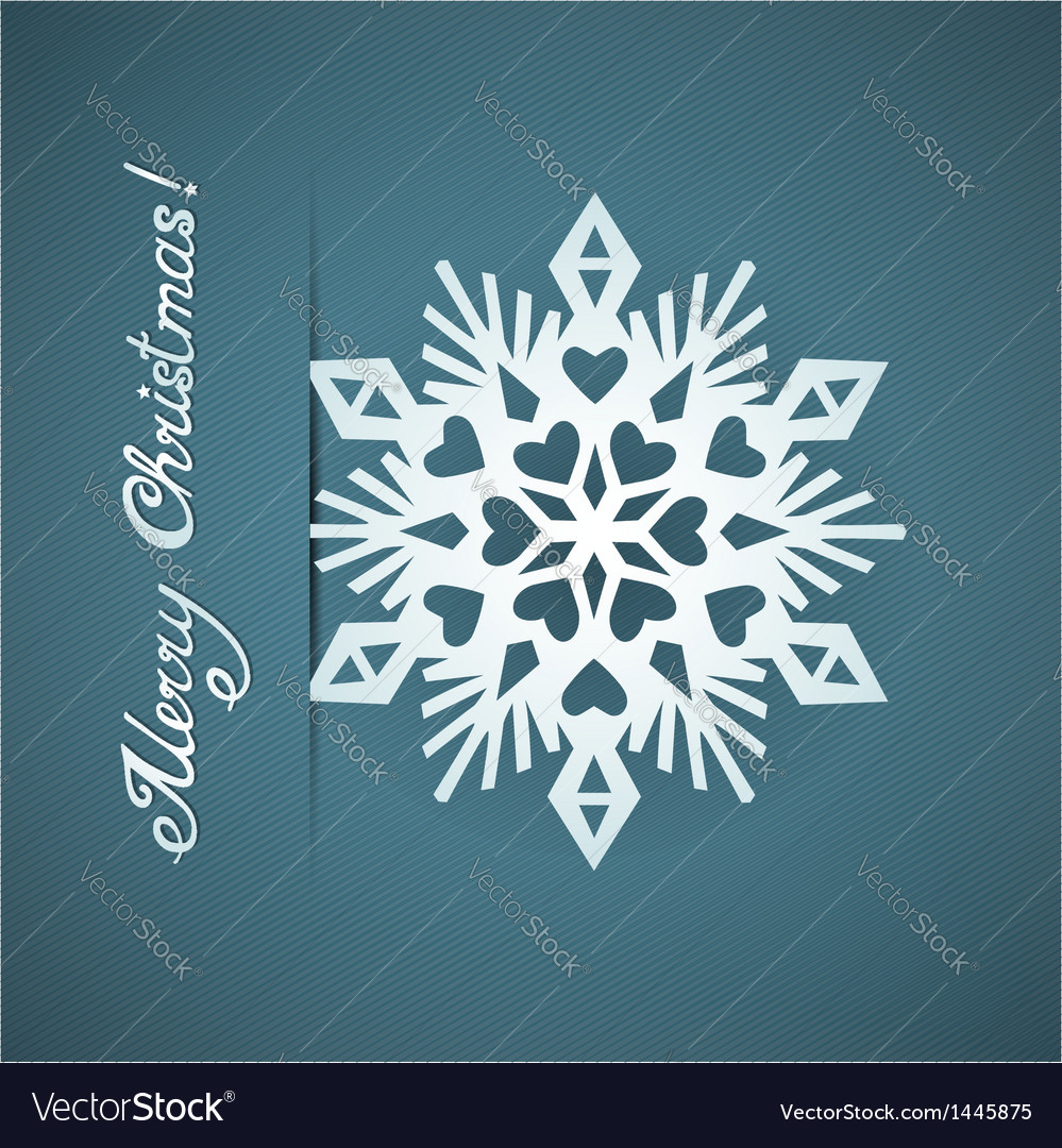 Paper origami christmas snowflake card