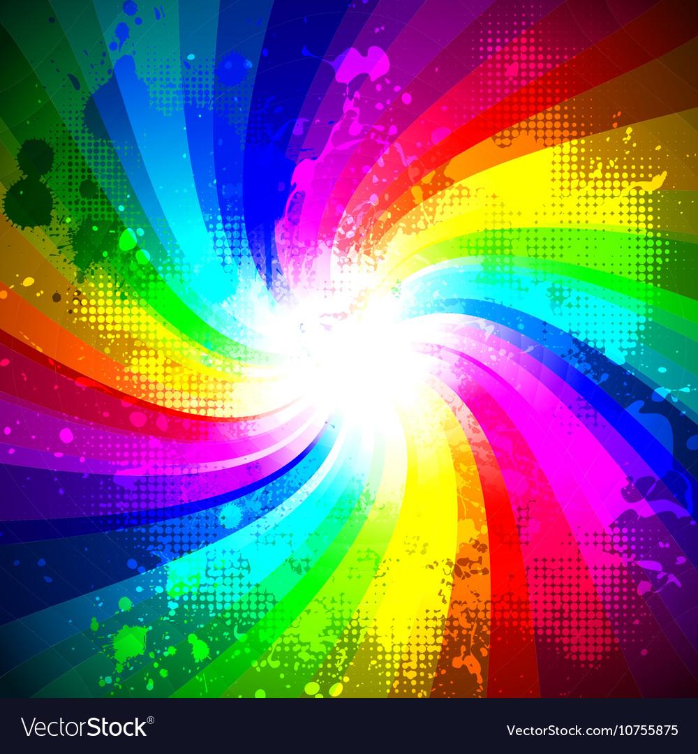 Rainbow splash vector image