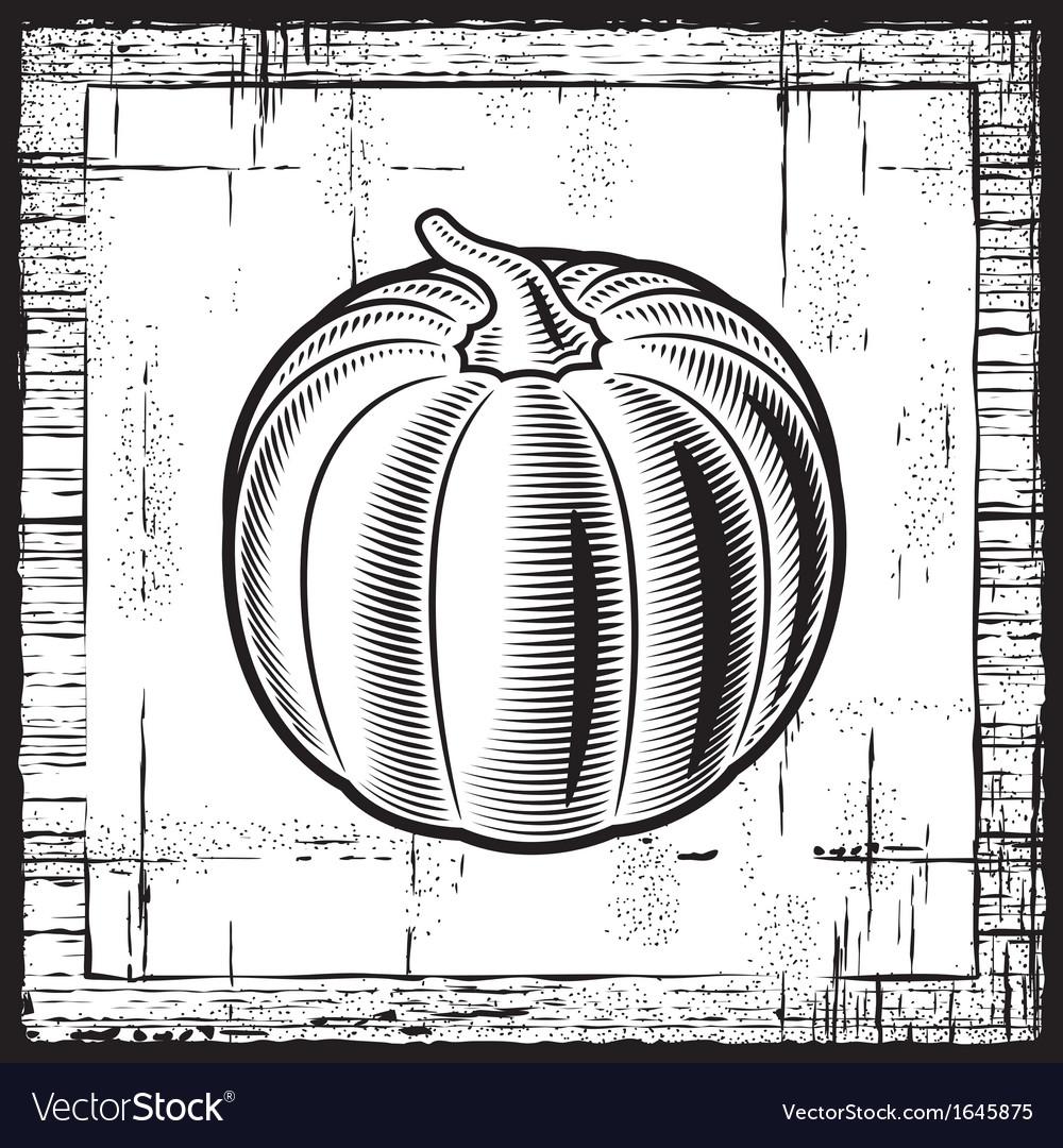 Retro pumpkin black and white