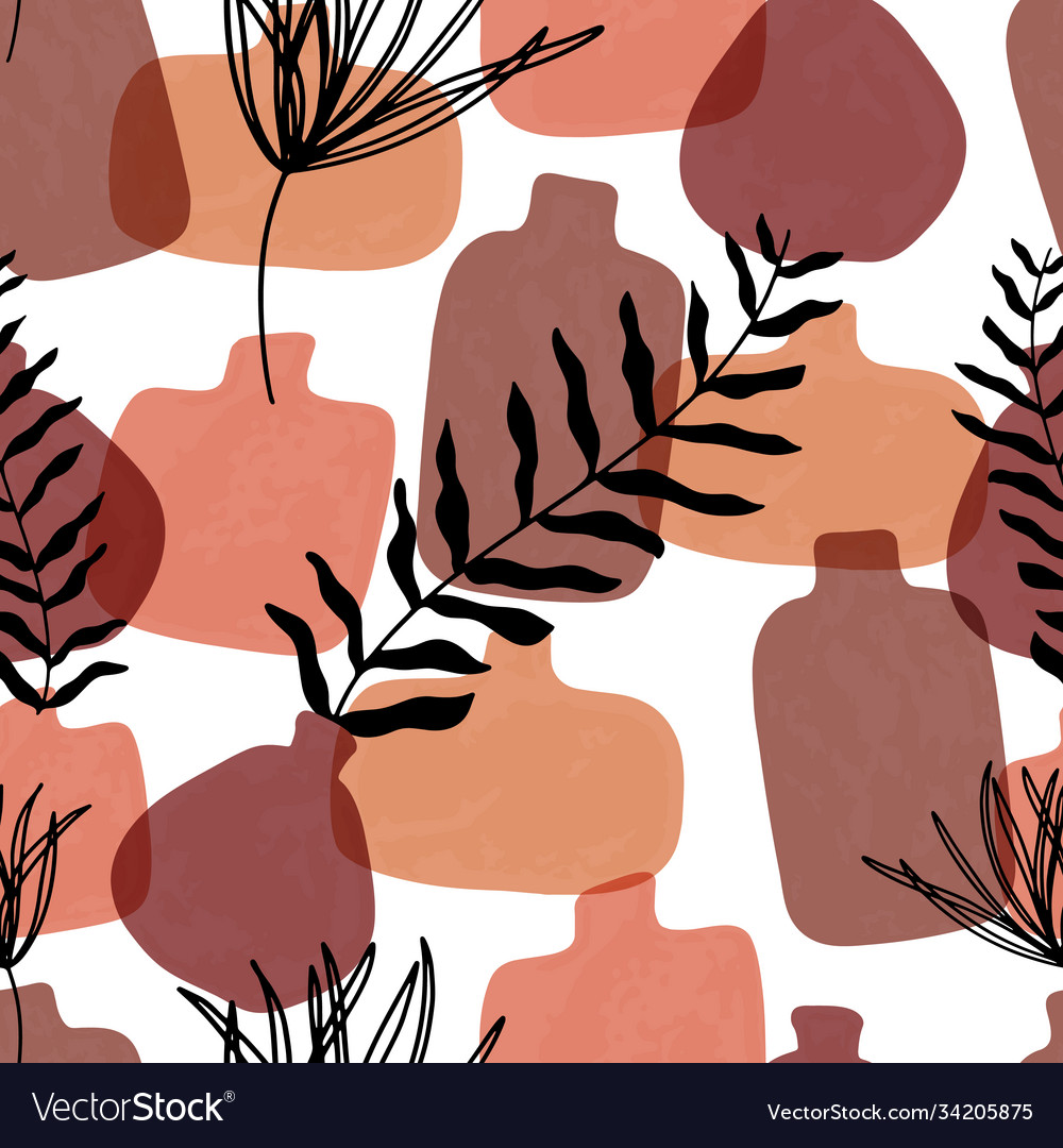 Seamless pattern with abstract hand drawn