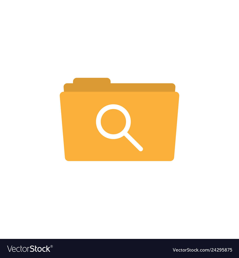 Search folder icon design template isolated