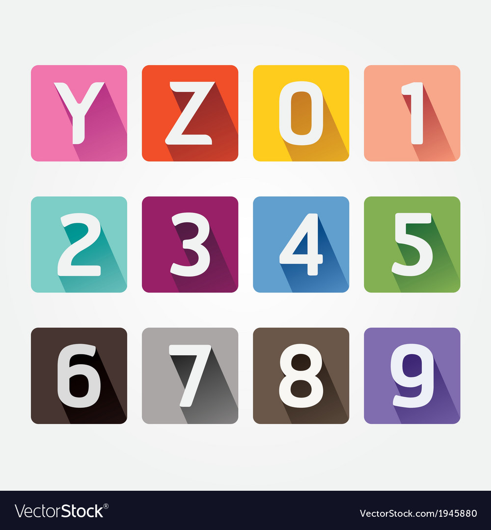 Alphabet colorful Font with Sahdow Style