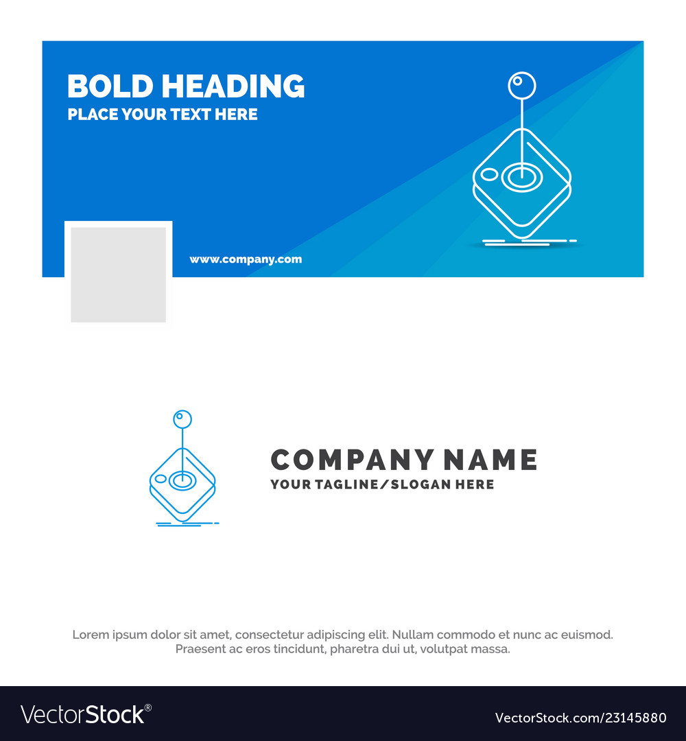 blue business logo template for arcade game vector image