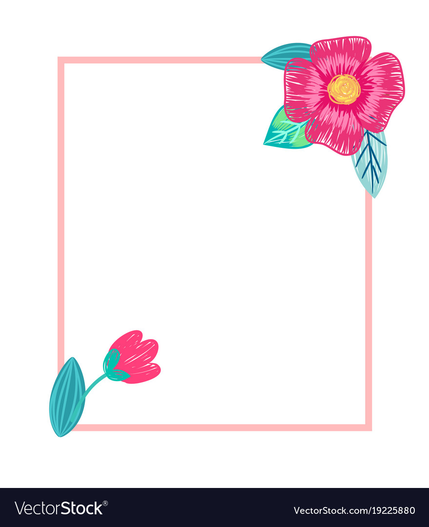 Bright postcard with flowers