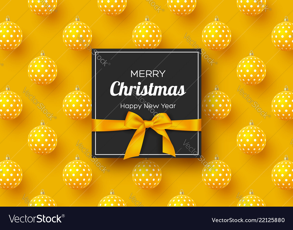 Christmas holiday banner realistic 3d balls with