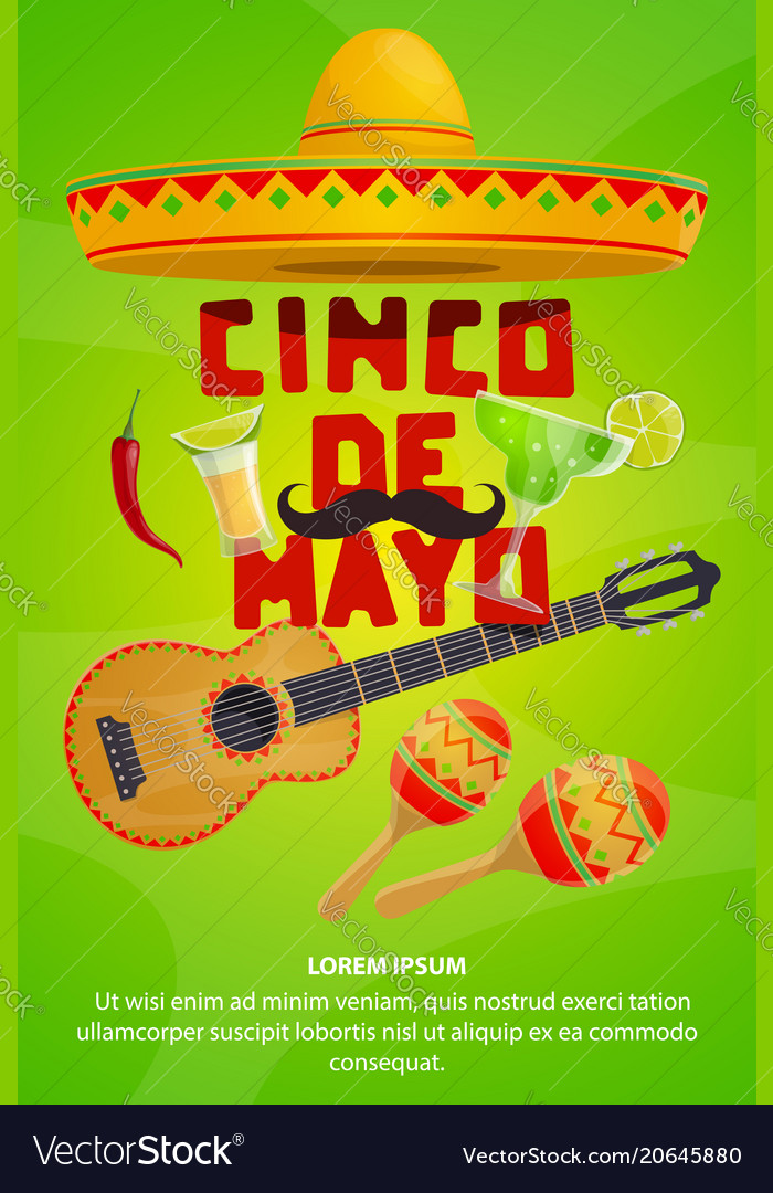 Cinco de mayo mexican party greeting banner design cinco de mayo mexican party greeting banner design vector image m4hsunfo