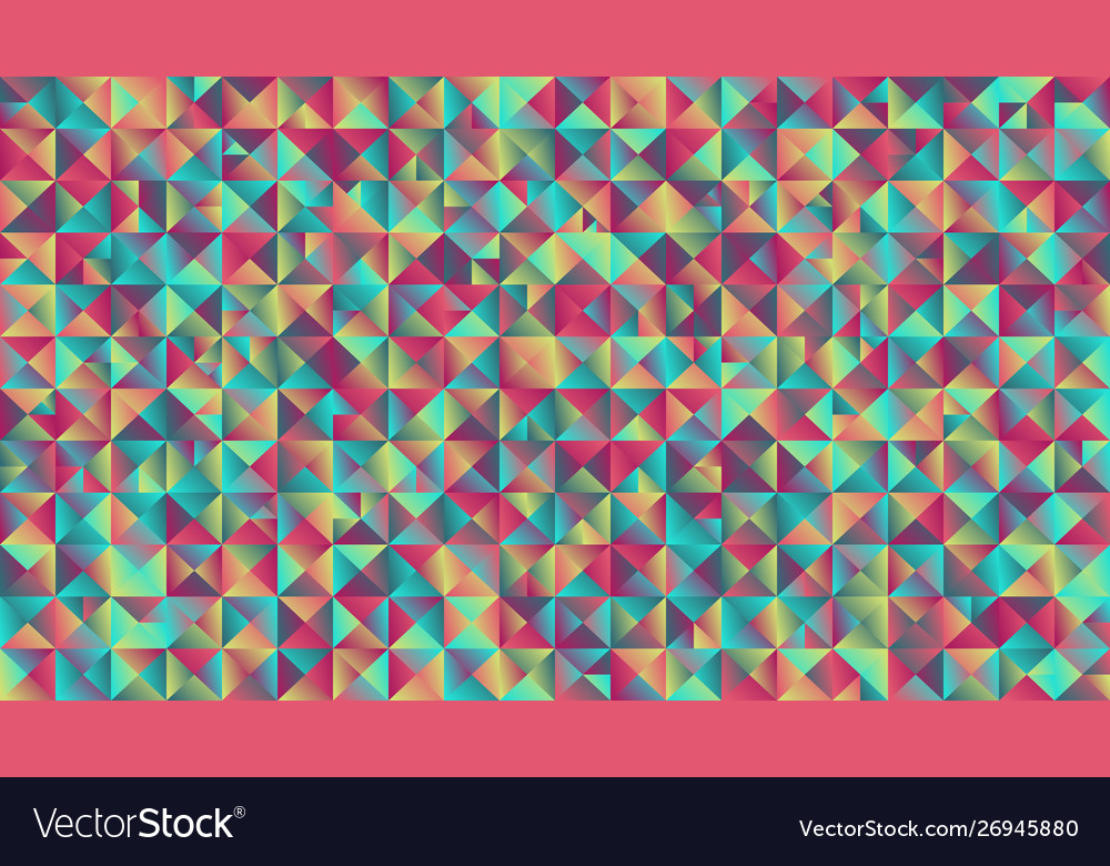 Colorful abstract geometrical gradient triangle