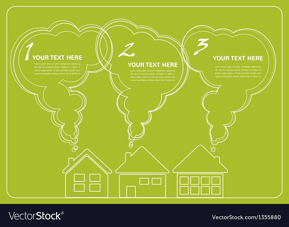 Green village and clean enviroment infographics