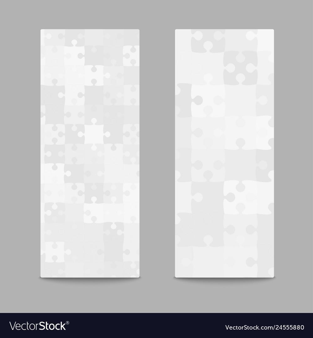 Grey jigsaw puzzle cards flyers brochures