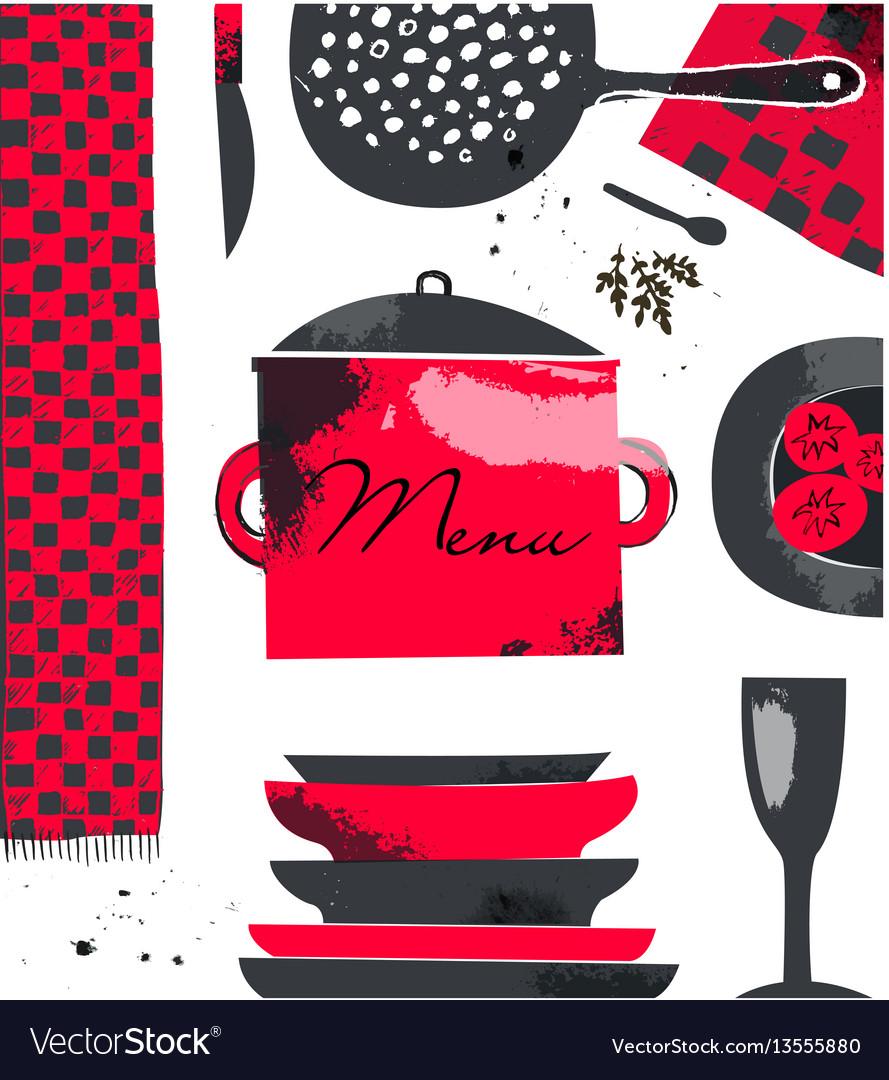 Restraurant cafe menu design template