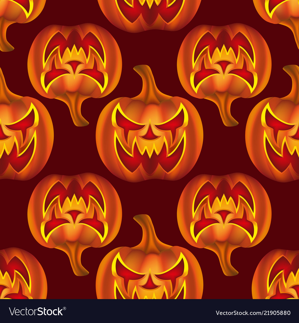 Seamless pattern with pumkins on background