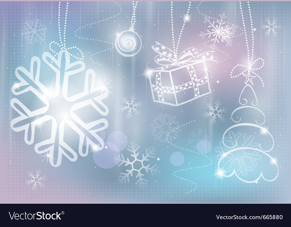 Silver christmas card colorful