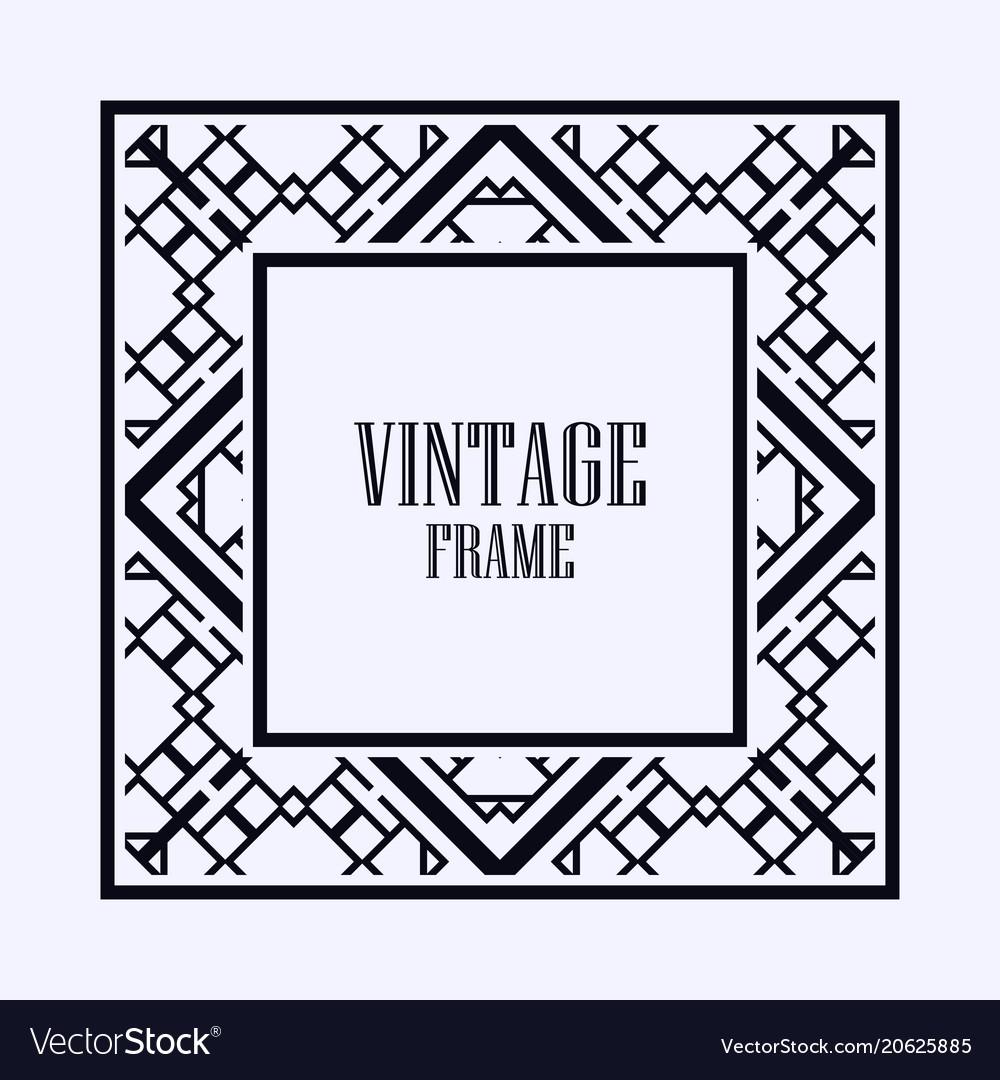 art deco frame border royalty free vector image rh vectorstock com art deco vector logo art deco vectoriel