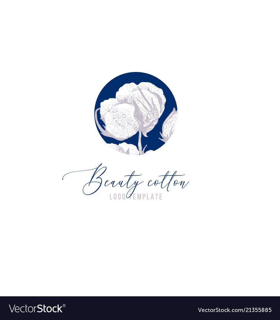 Beauty cotton logo template