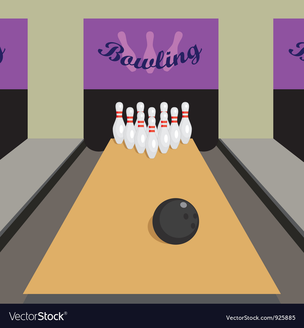 Bowling game vector image