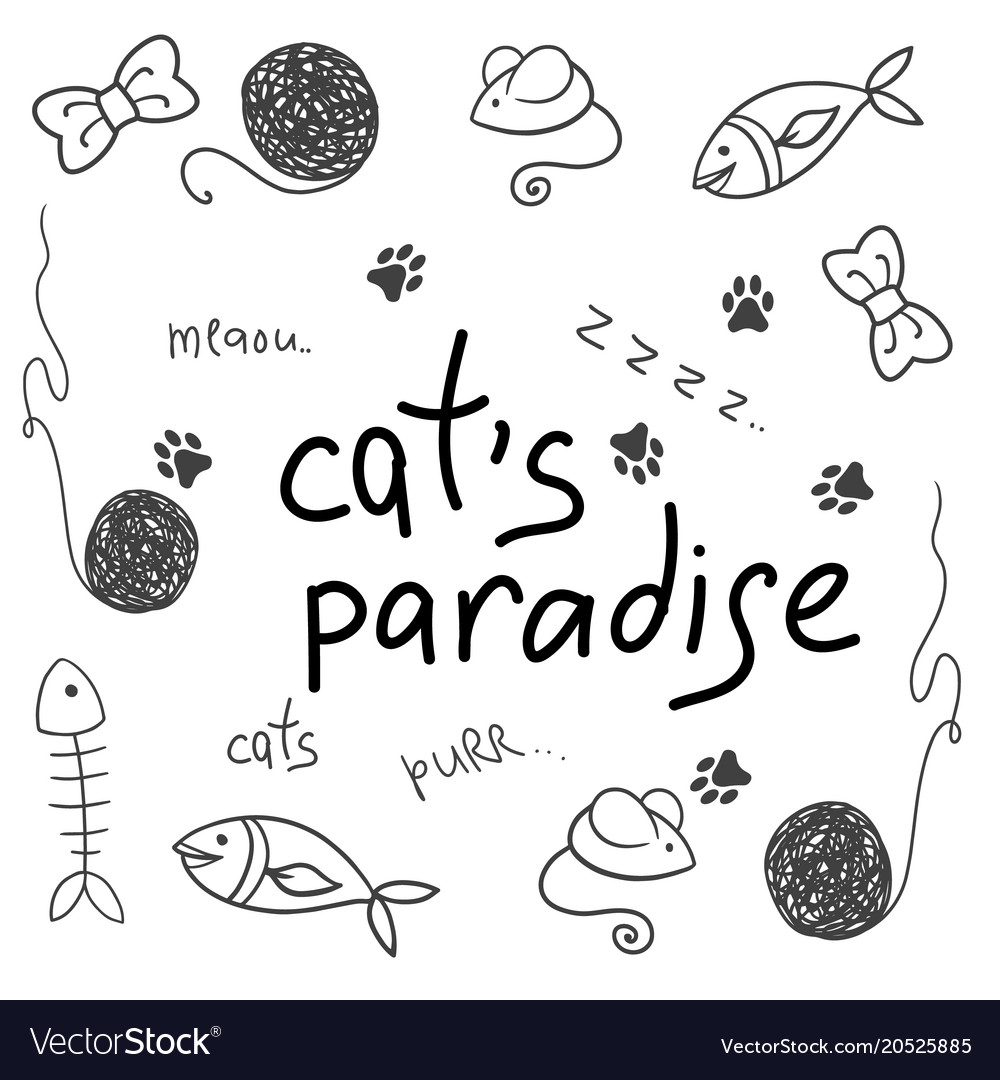 Cat accessory cute animal icons