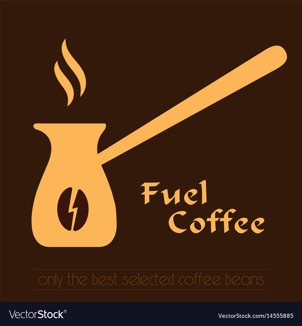 Coffee logo cezve icon and label