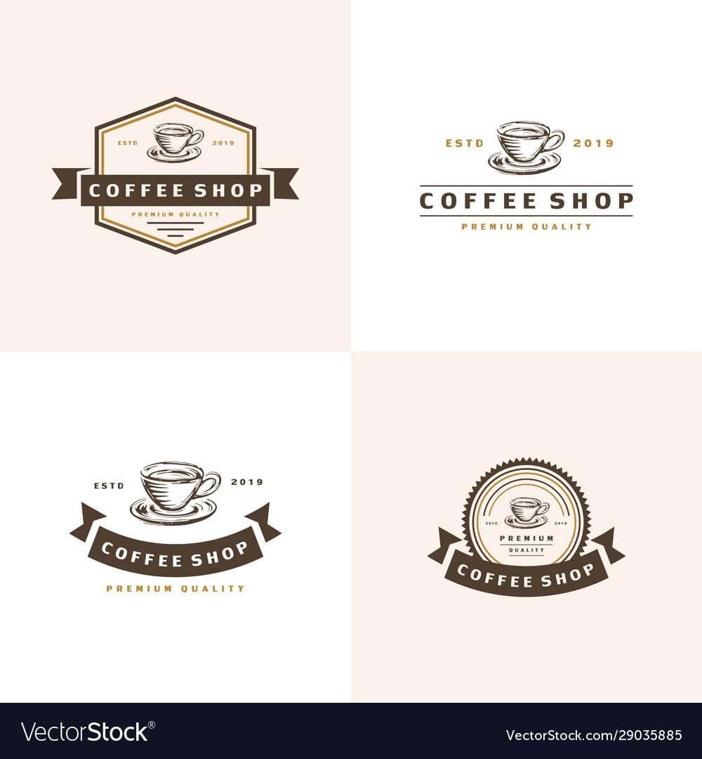 Coffee logo - emblem set design