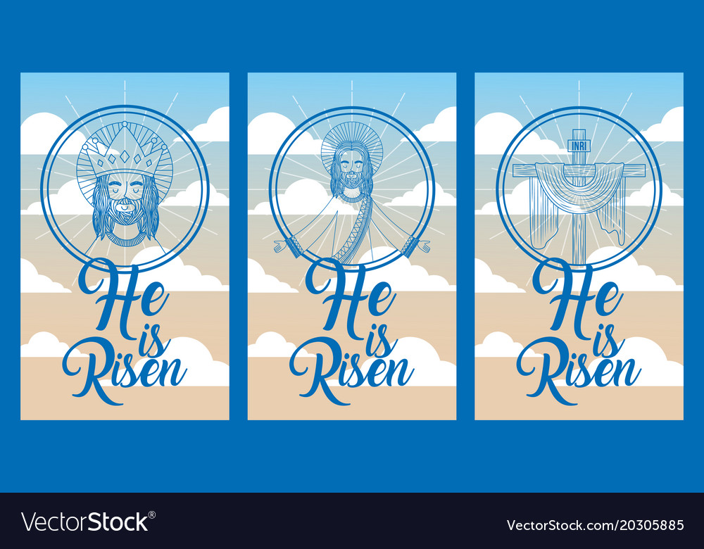 Collection banners he is risen jesus in heaven
