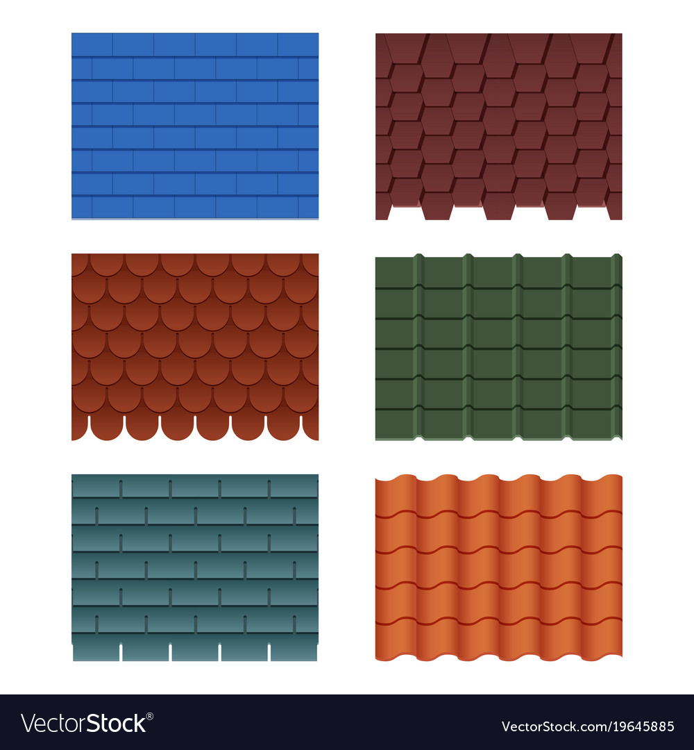 Horizontal pattern of tiles for roofed house