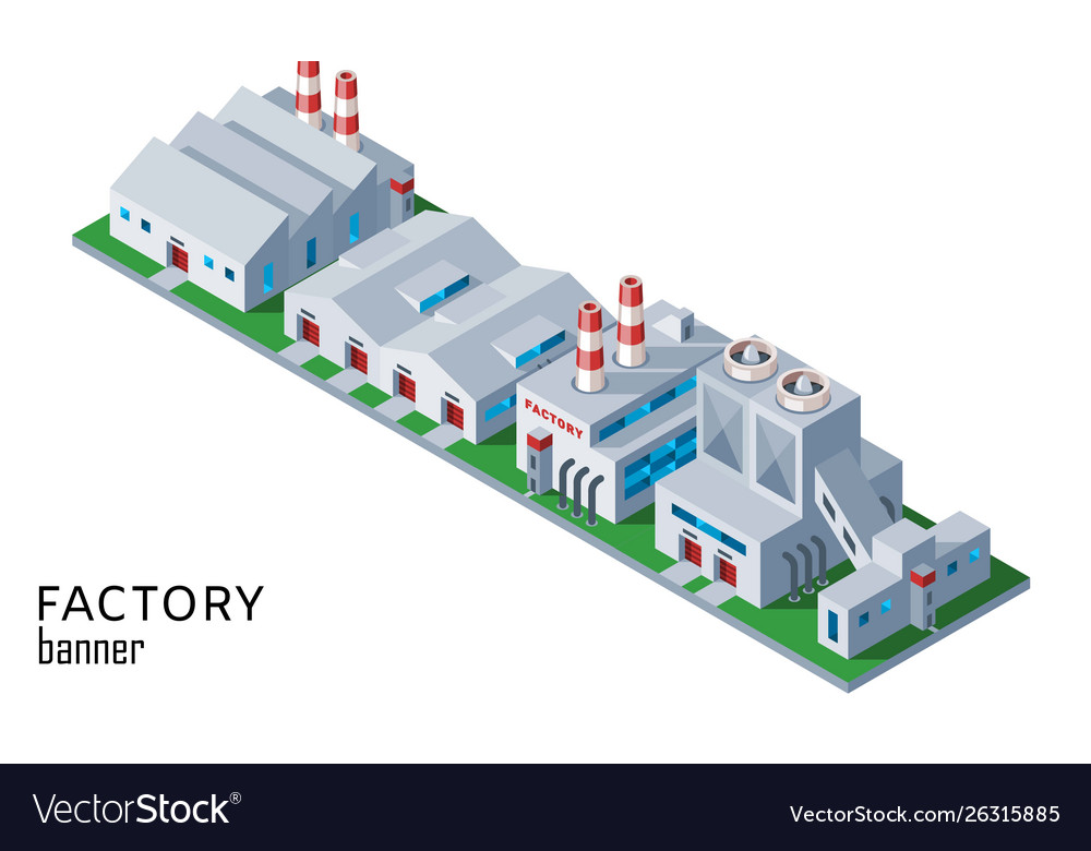 Industrial factory and warehouse building