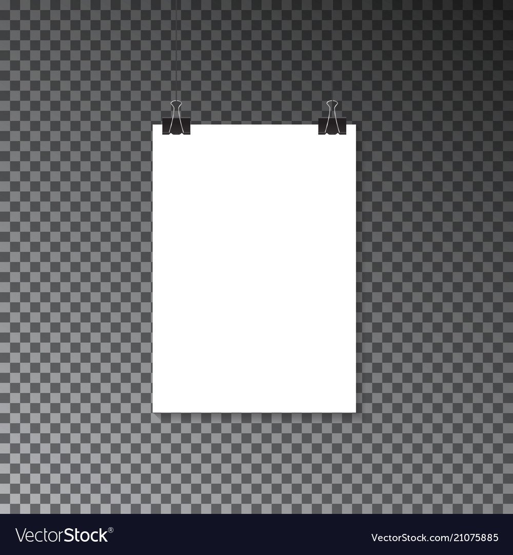 Paper banner on wall poster advertising mockup po