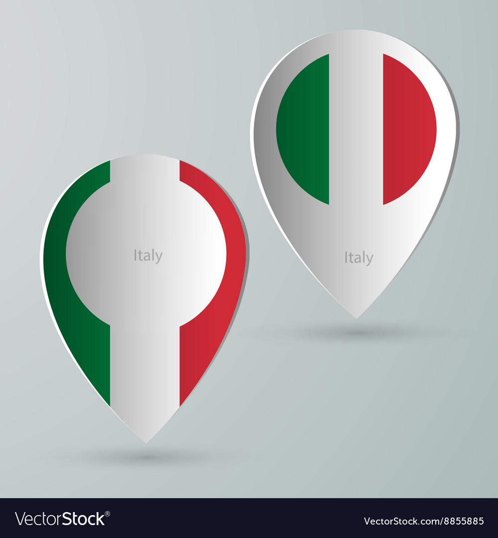 Paper of map marker for maps italy