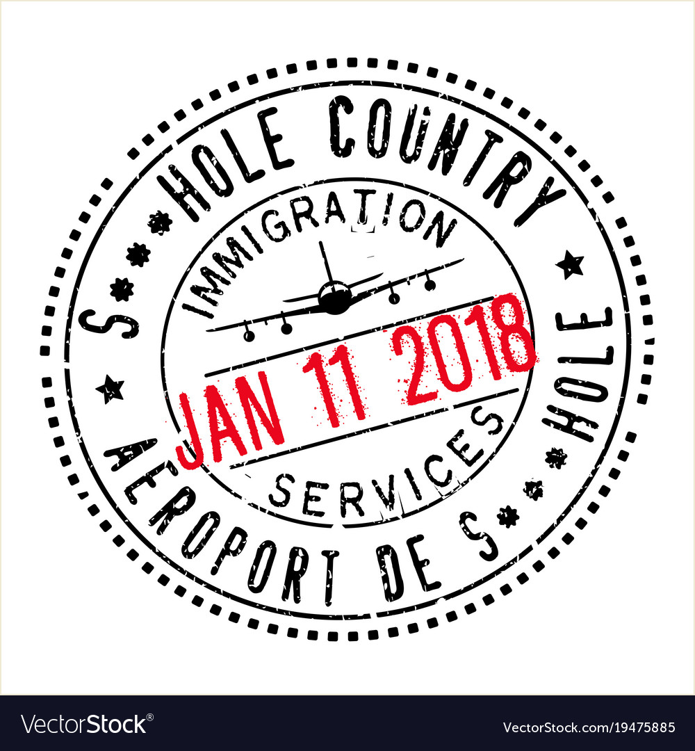 Passport stamp design for shithole countries