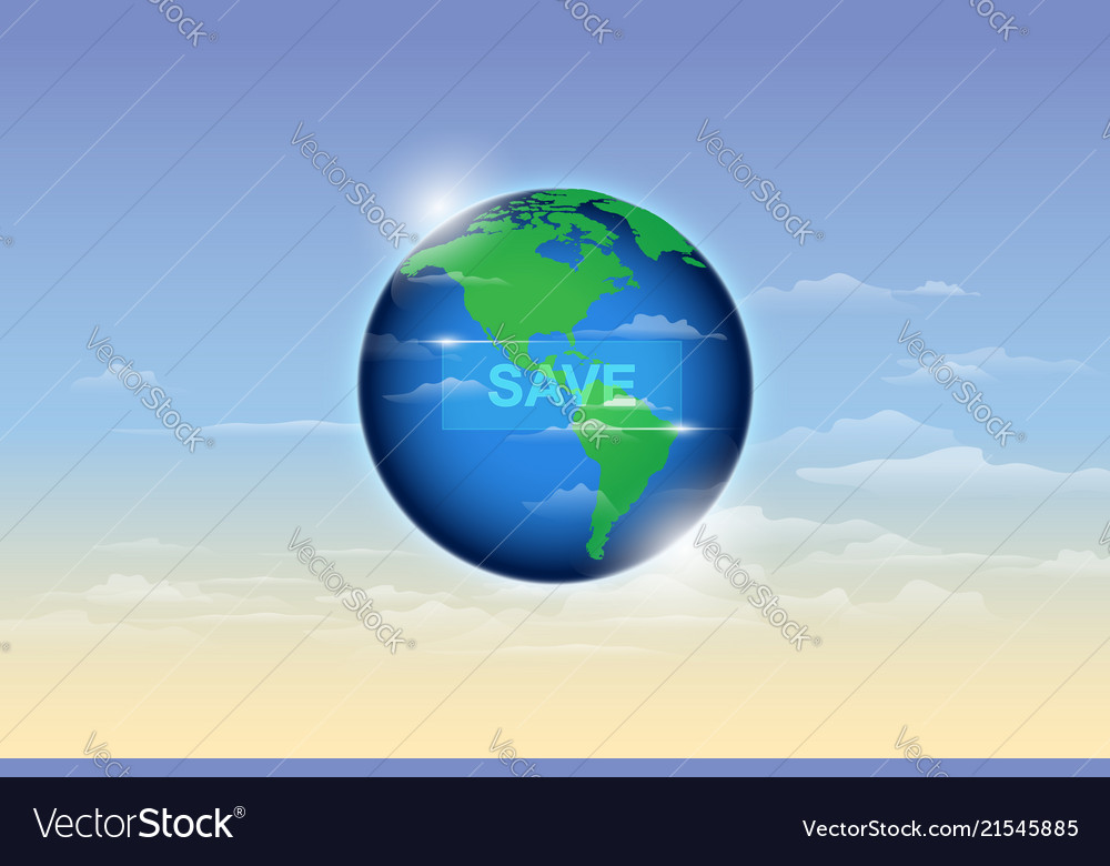 Save the earth ecology concept