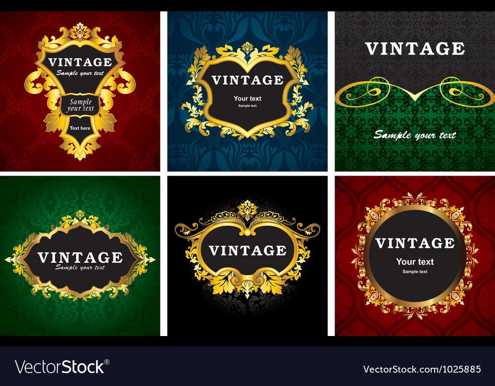 Vintage gold labels