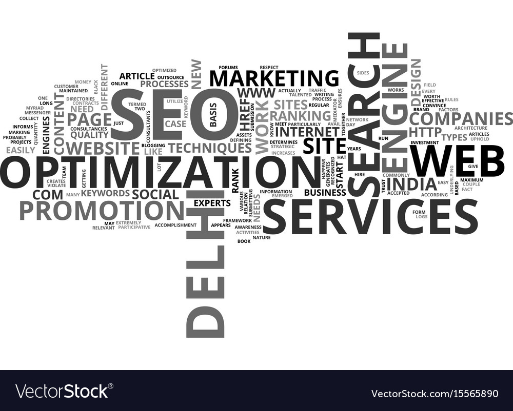A new glimmer for seo text word cloud concept