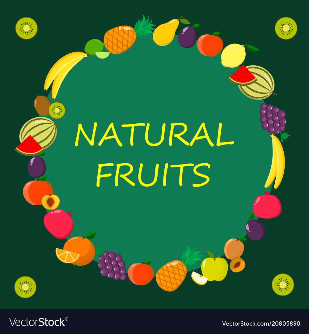 Different kinds of fruits on a