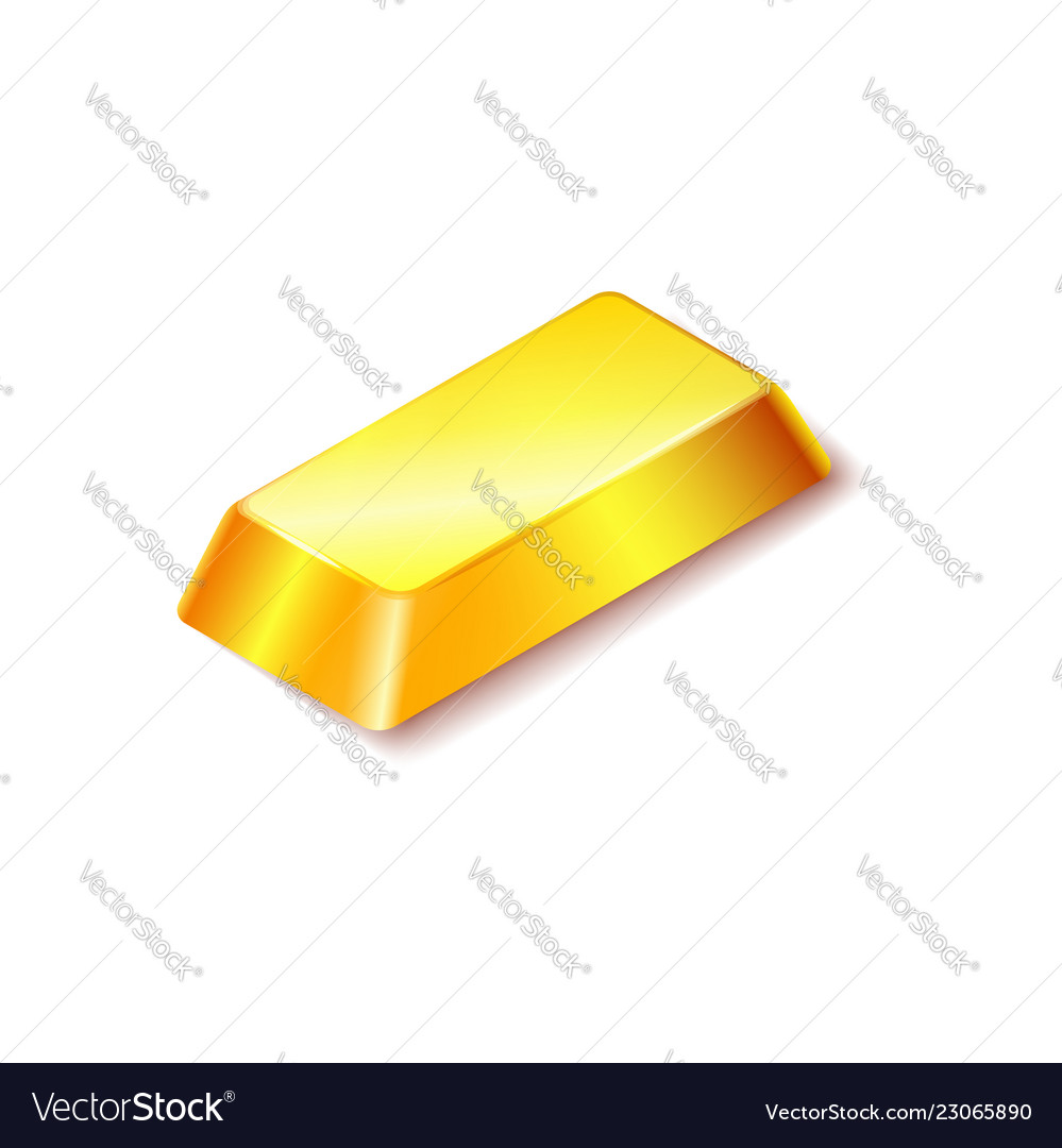 Gold bar icon isolated on white background