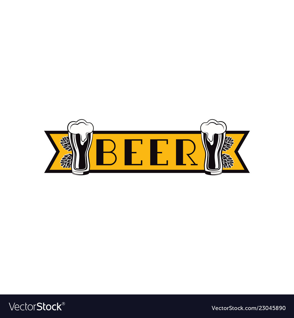 Label delicious foam beer drink label for the