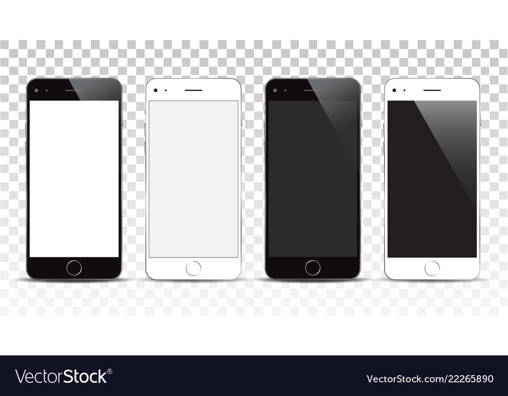New realistic smartphone mockup with blank screen