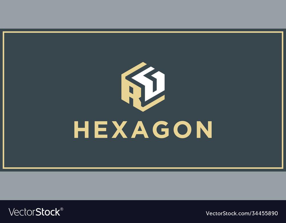 Rg hexagon logo design inspiration